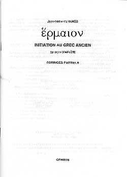 Vernhes, Initiation au grec ancien (corrigés)