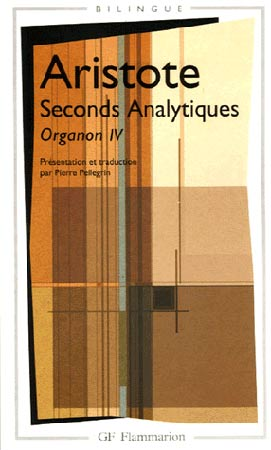 Aristote, Seconds analytiques
