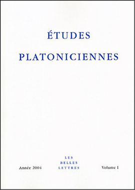 Collection, Etudes platoniciennes, n° 1/2004
