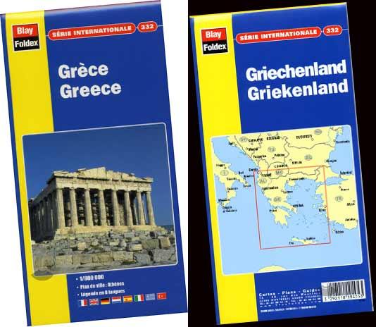 Foldex, Griechenland Karte #332