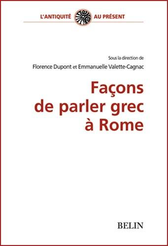 Dupont, Façons de parler grec à Rome