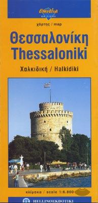 Thessaloniki Halkidiki map