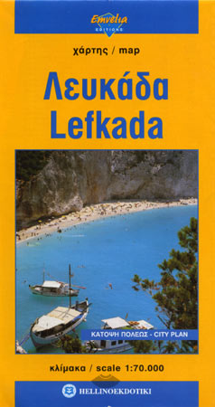 Lefkada - carte routi�re