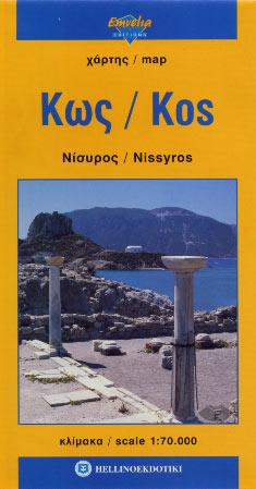 Kos Nissyros - map