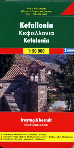 Kefallonia map