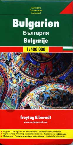 Freytag & Berndt, Bulgarie carte routi�re