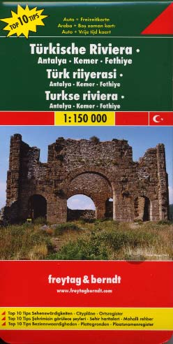Freytag & Berndt, Turkish Riviera - Antalya  Kemer Fethiye Map