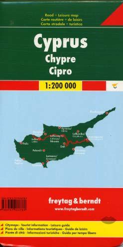 Chypre carte routière et de loisirs