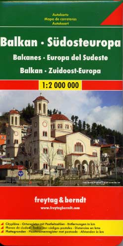 Freytag & Berndt, Balkans South-East Europa map