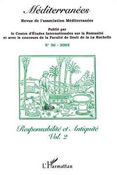 Mιditerranιes n° 36 - Responsabilitι et Antiquitι Vol. 2