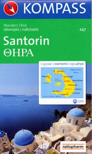 Santorini - Hiking Map