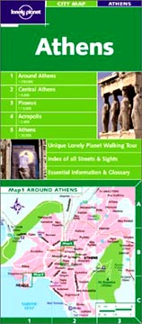 Lonely Planet, Athens City Map