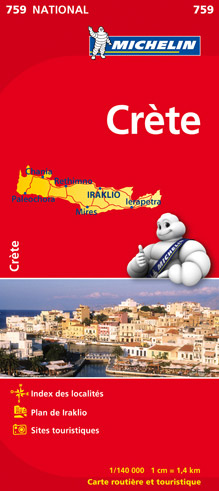 Crete Michelin map N ° 759