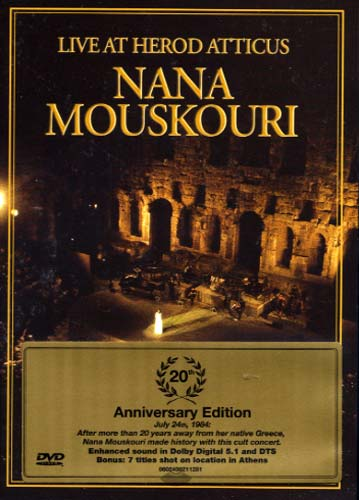 Mouskouri, Live at Herod Atticus (dvd)