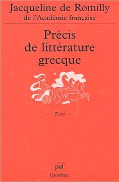 Pr�cis de litt�rature grecque