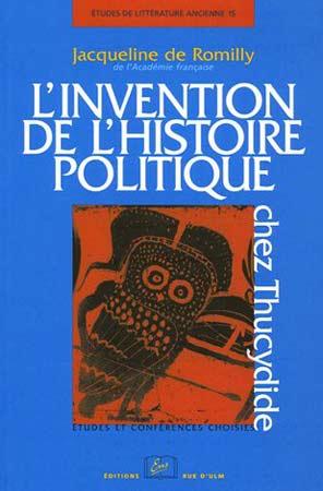 L'invention de l'histoire politique chez Thucydide