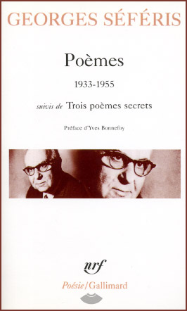 Seferis, Po�mes (1933-1955)