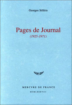 Pages de journal, 1925-1971
